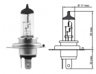 Лампа галогенная TESLA H4*12v*60/55w+100%