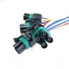 PAU4249 Разъем 4-х контактный (папа), герметичный для бензонасоса, датчика кислорода ВАЗ OEM: Delphi 12015798