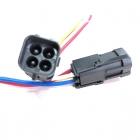 PAU4250 Разъем 4-х контактный (мама), герметичный для бензонасоса, датчика кислорода ВАЗ OEM: Delphi 12015024