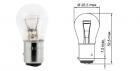 Лампа Tesla (P21/4W, 12 V, BAZ 15 d)