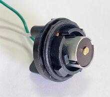 PA59 Патрон заднего фонаря Lanos, Sens 1-контактный черный (цокольн.) с проводом