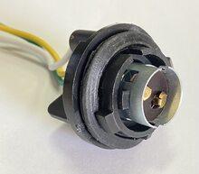 PA60 Патрон заднего фонаря Lanos, Sens 2-контактный черный (цокольн.) с проводом