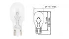 Лампа Tesla (W16W, 12 V, W 2,1x9,5 d)