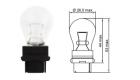 Лампа Tesla (P27W, 12V, W 2, 5x16 d)
