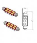 B96201 Лампа Tesla (LED C10W CB,12V,SV8,5-8) комплект 2 шт.