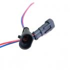 PAS3166 Разъем(мама) 2-х контактный, герметичный катушки зажигания, блока заднего хода ВАЗ 1119, 1117  oem: AMP TE 282104-1