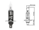 B30101 Лампа галогенная TESLA H1*12v*55w*P14,5s+50%