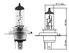 Лампа галогенная TESLA H4*12v*60/55w* P43t+100%